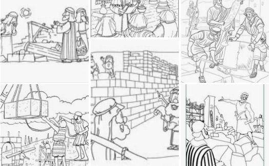 Ezra and Nehemiah - Bible Coloring Pages | Bible coloring pages ... | 325x525