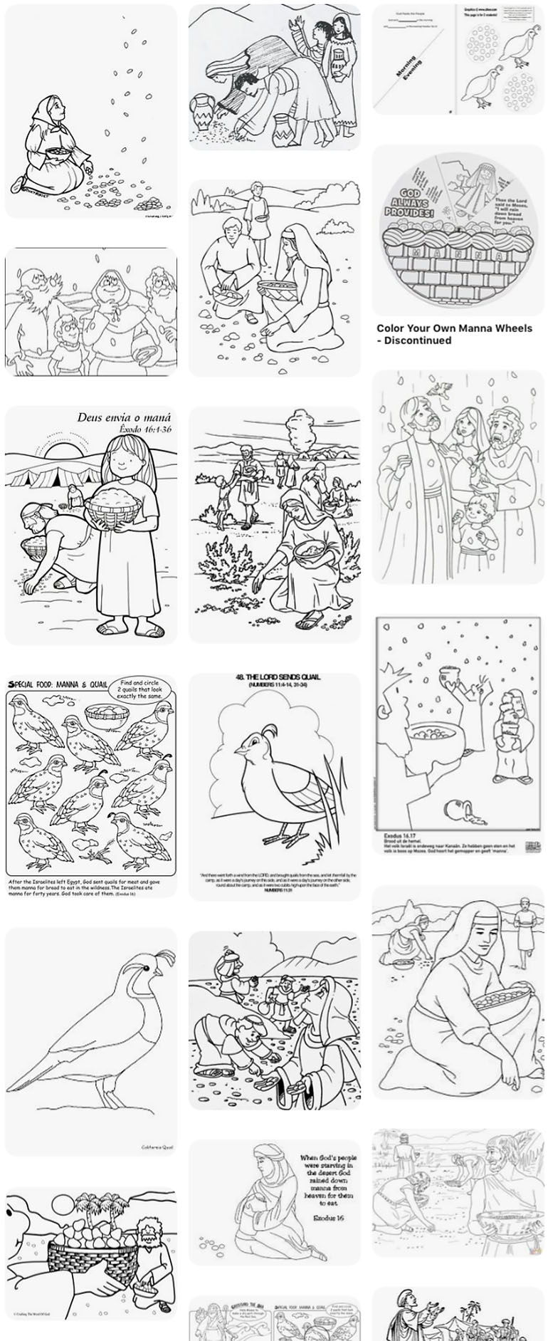 Gathering Manna from Heaven coloring page | Free Printable ... | 1883x770