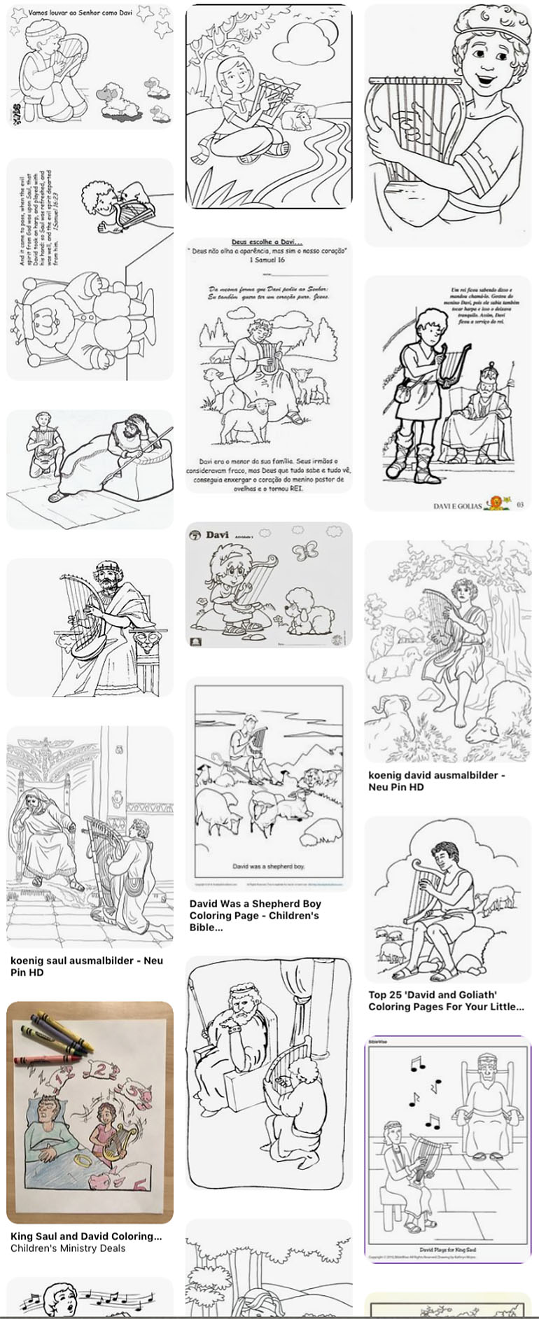 King David coloring pages | Free Coloring Pages | 1884x770