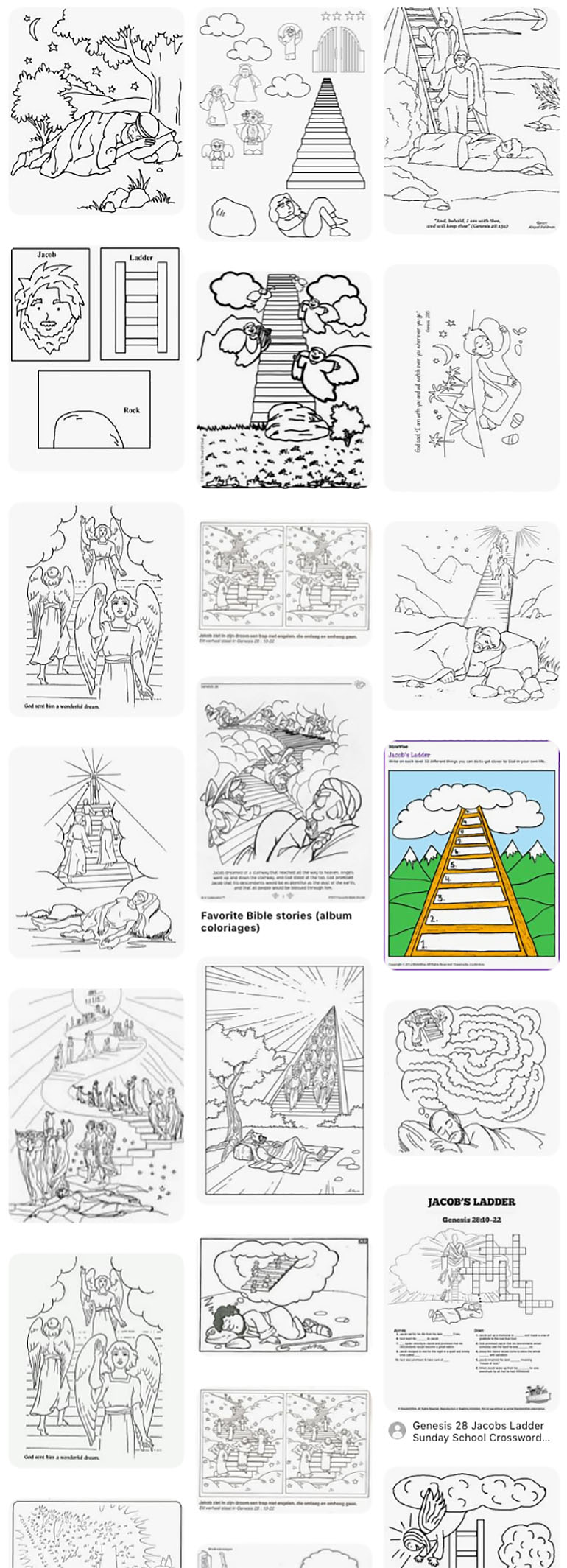 Jacob's Ladder Dream coloring page | Free Printable Coloring Pages | 2129x770